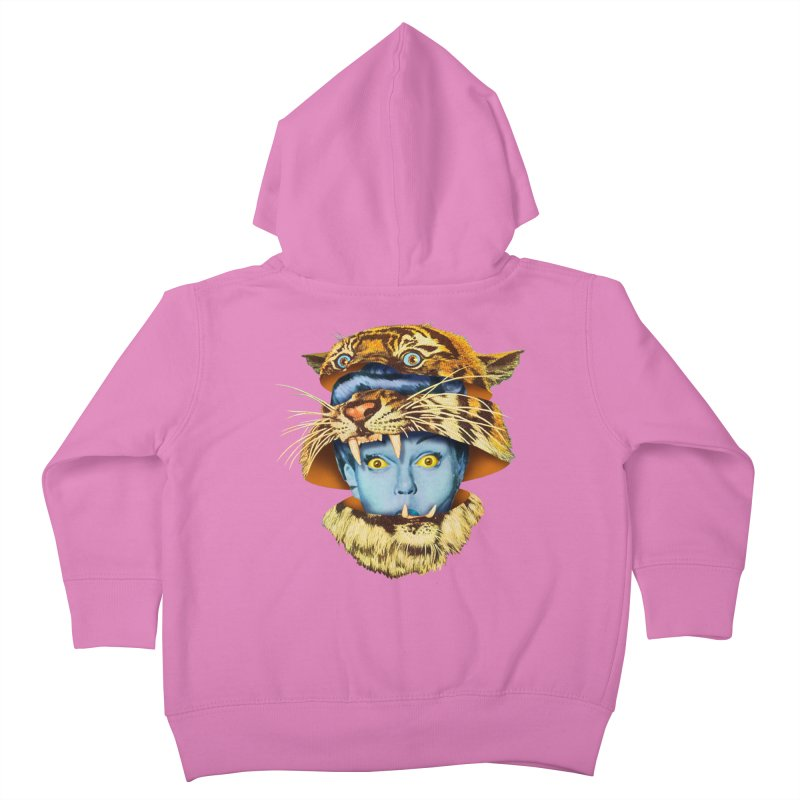Tiger Lady Kids Toddler Zip-Up Hoody by Tom Burns