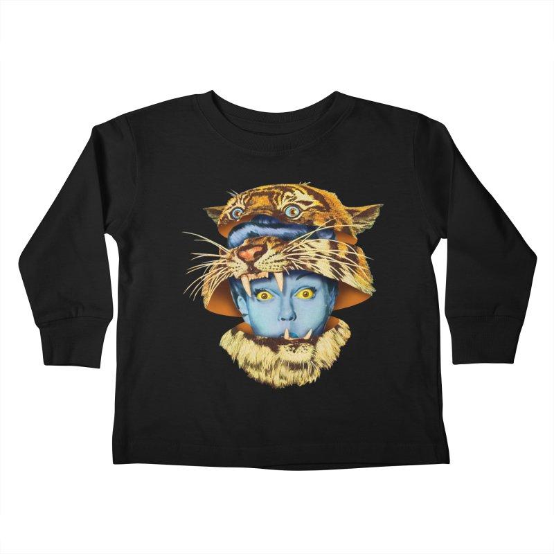 Tiger Lady Kids Toddler Longsleeve T-Shirt by Tom Burns