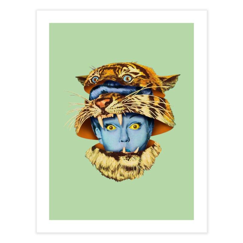 Tiger Lady Home Fine Art Print by Tom Burns