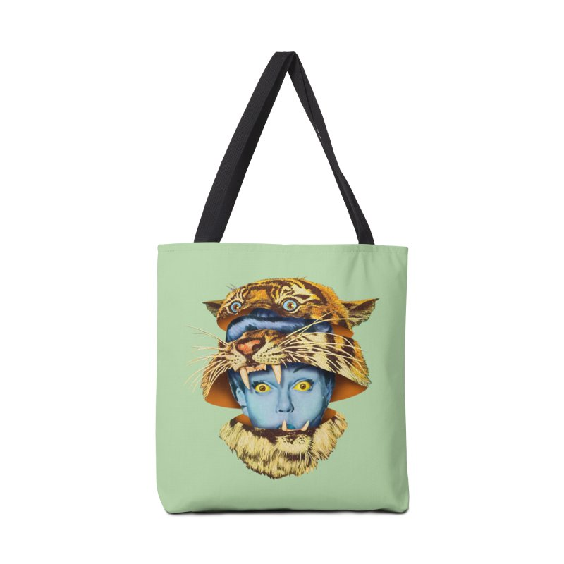 Tiger Lady Accessories Tote Bag Bag by Tom Burns