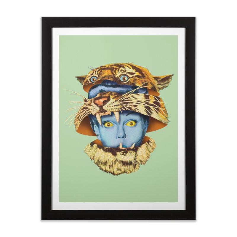 Tiger Lady Home Framed Fine Art Print by Tom Burns