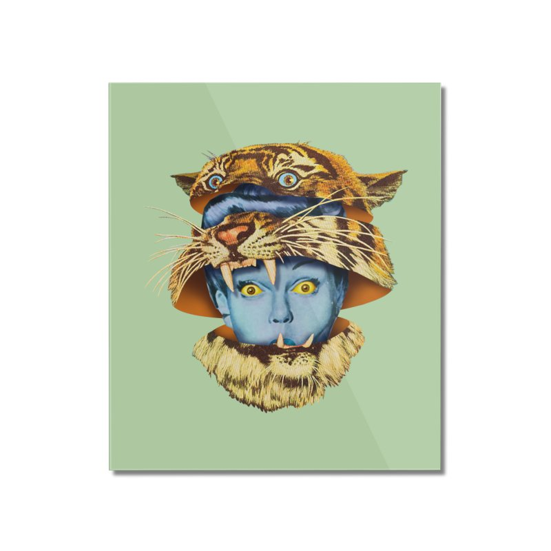 Tiger Lady Home Mounted Acrylic Print by Tom Burns