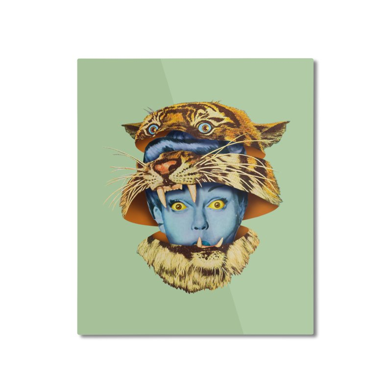 Tiger Lady Home Mounted Aluminum Print by Tom Burns
