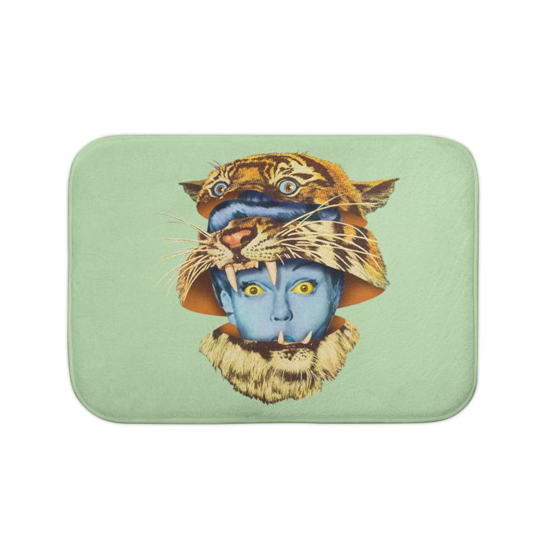 Tiger Lady Home Bath Mat by Tom Burns
