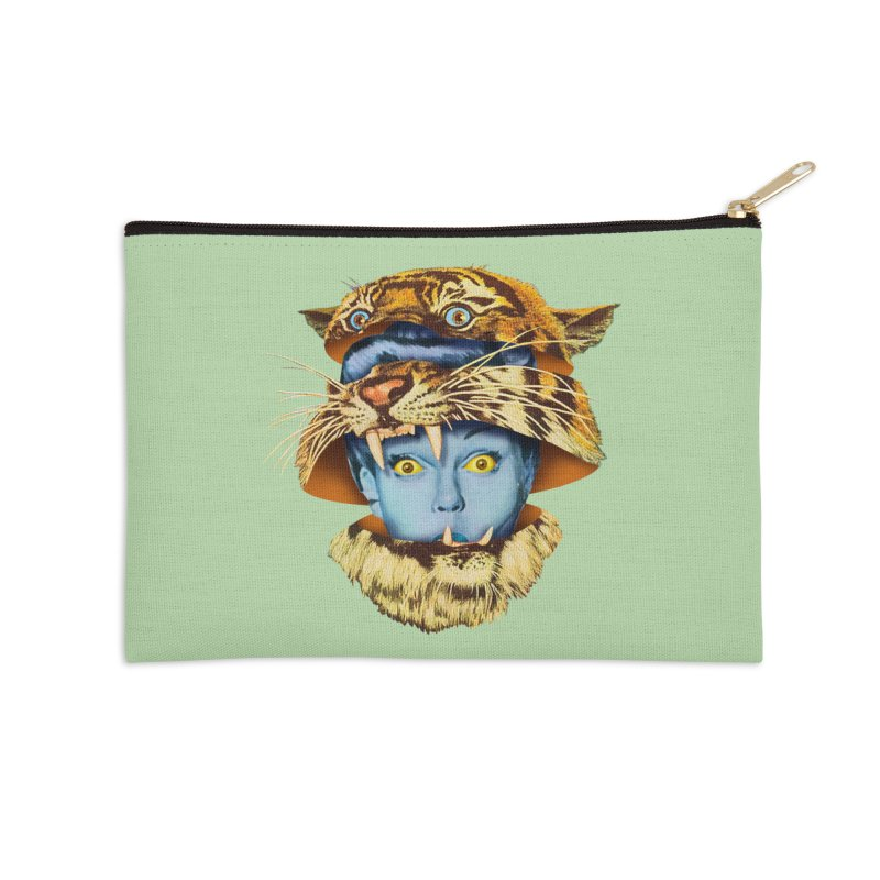 Tiger Lady Accessories Zip Pouch by Tom Burns