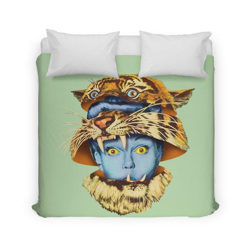 Tiger Lady Home Duvet by Tom Burns