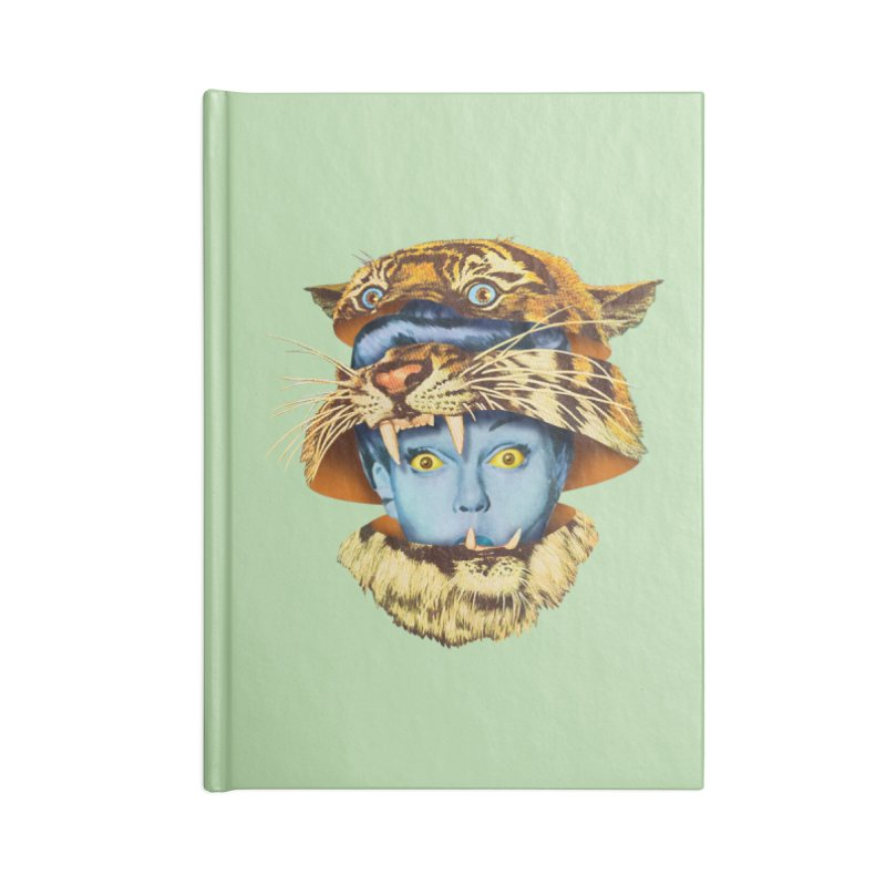 Tiger Lady Accessories Blank Journal Notebook by Tom Burns
