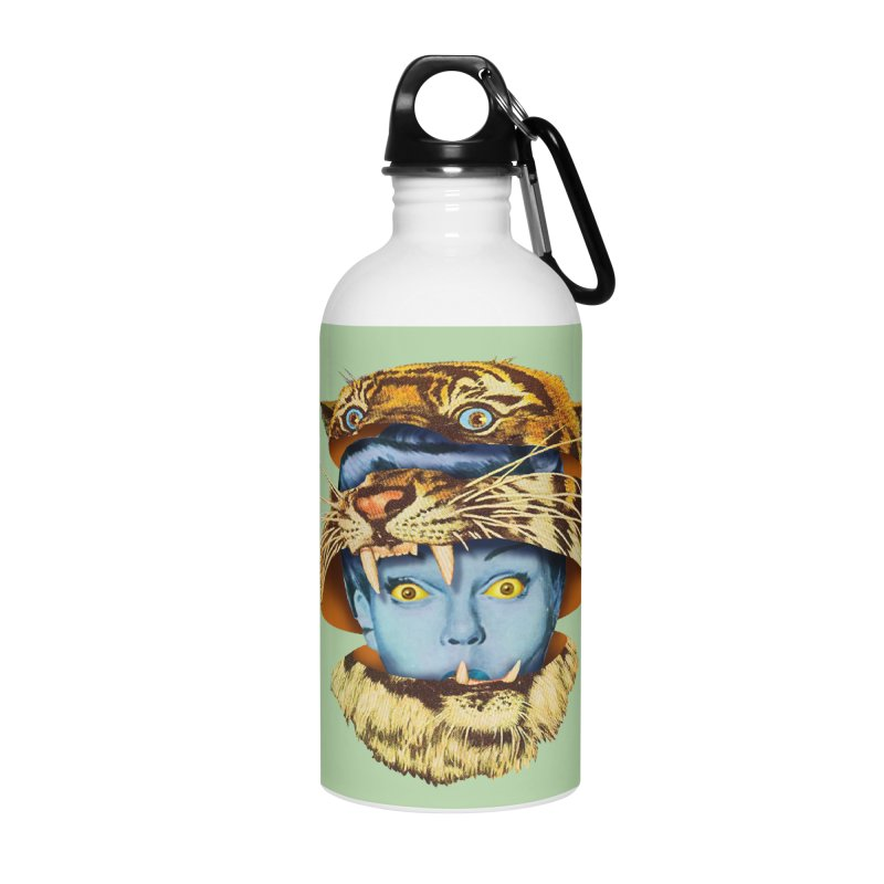 Tiger Lady Accessories Water Bottle by Tom Burns