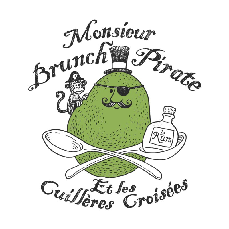 Avocado Brunch Pirate Men's T-Shirt by Tom Chitty merch, yo.