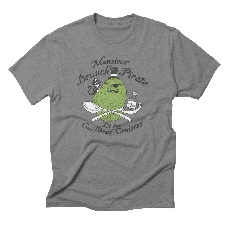 Avocado Brunch Pirate Men's Triblend T-Shirt by Tom Chitty merch, yo.