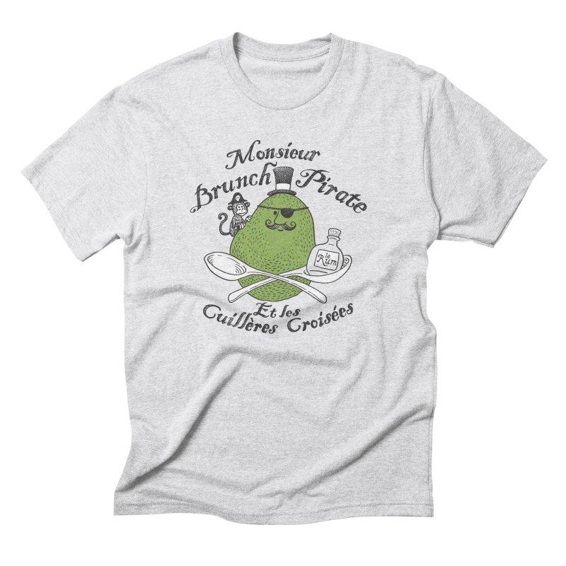 Avocado Brunch Pirate Men's Triblend T-Shirt by Tom Chitty merch, yo.