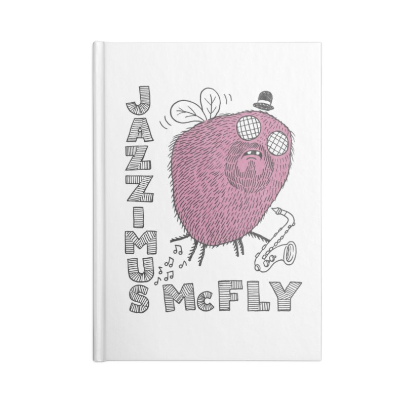 The Jazz Fly Accessories Blank Journal Notebook by Tom Chitty merch, yo.