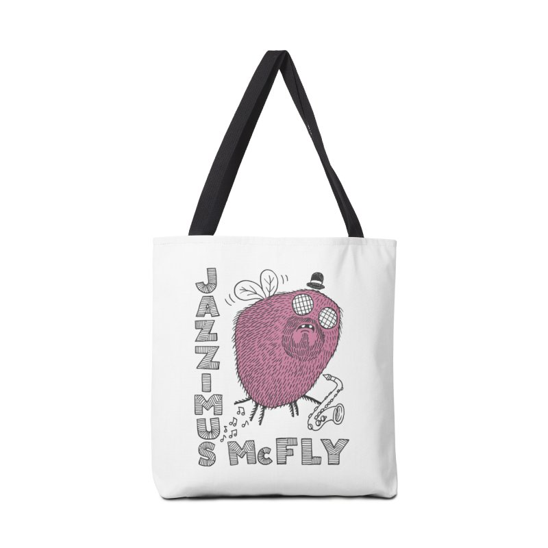 The Jazz Fly Accessories Tote Bag Bag by Tom Chitty merch, yo.