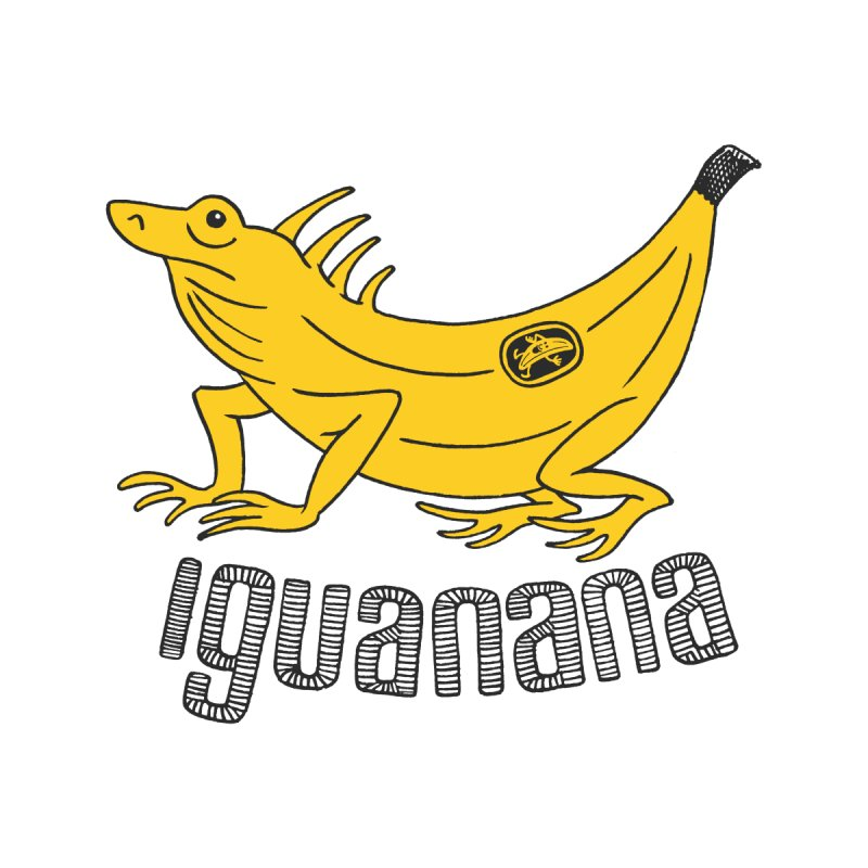 Iguanana Women's T-Shirt by Tom Chitty merch, yo.