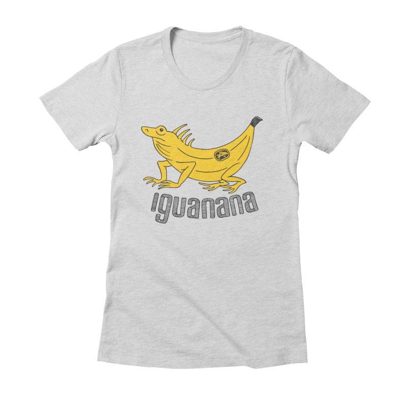 Iguanana Women's Fitted T-Shirt by Tom Chitty merch, yo.