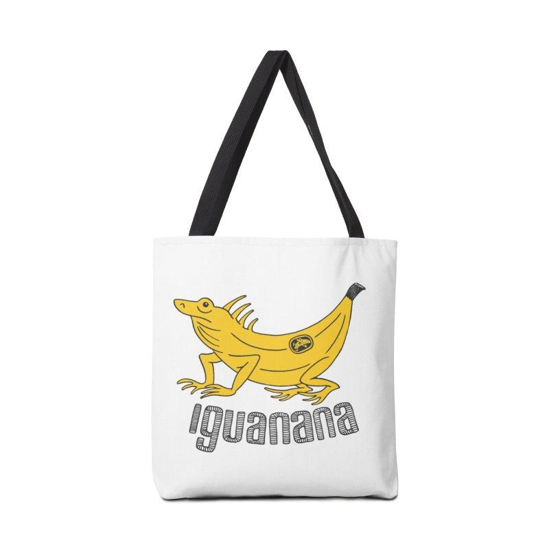 Iguanana Accessories Tote Bag Bag by Tom Chitty merch, yo.
