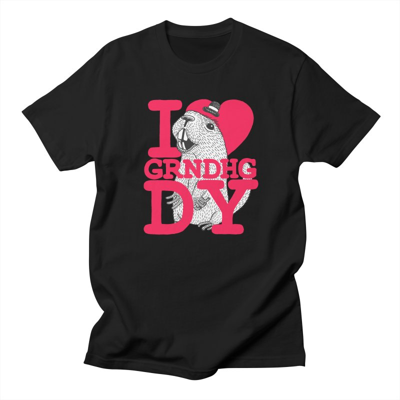 I Heart Groundhog Day Women's Regular Unisex T-Shirt by Tom Chitty merch, yo.