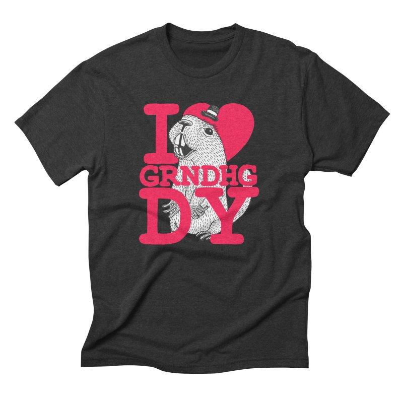 I Heart Groundhog Day Men's Triblend T-Shirt by Tom Chitty merch, yo.