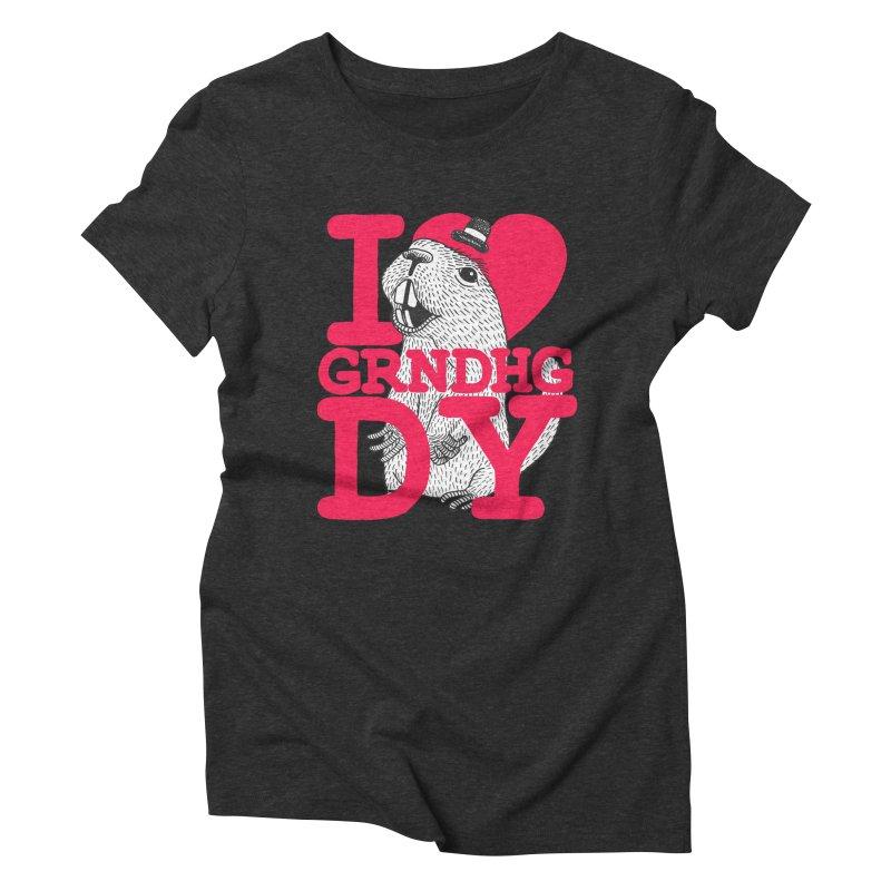 I Heart Groundhog Day Women's Triblend T-Shirt by Tom Chitty merch, yo.