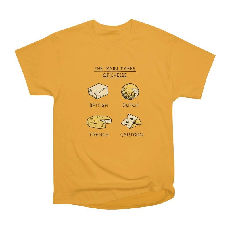The Main Types of Cheese Men's Heavyweight T-Shirt by Tom Chitty merch, yo.