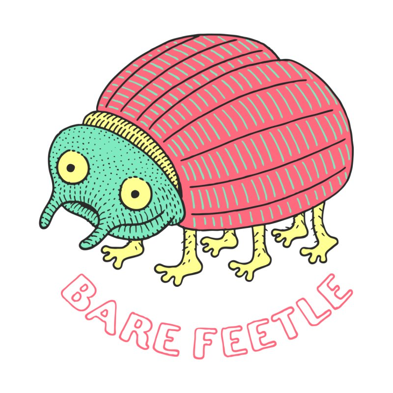 Bare Feetle Men's T-Shirt by Tom Chitty merch, yo.