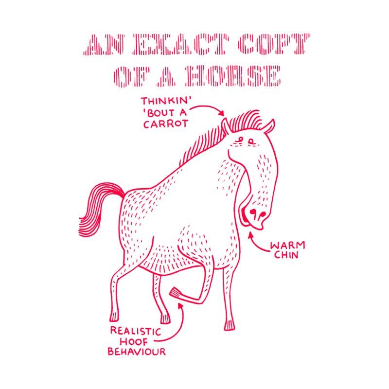 An exact copy of a horse Men's T-Shirt by Tom Chitty merch, yo.