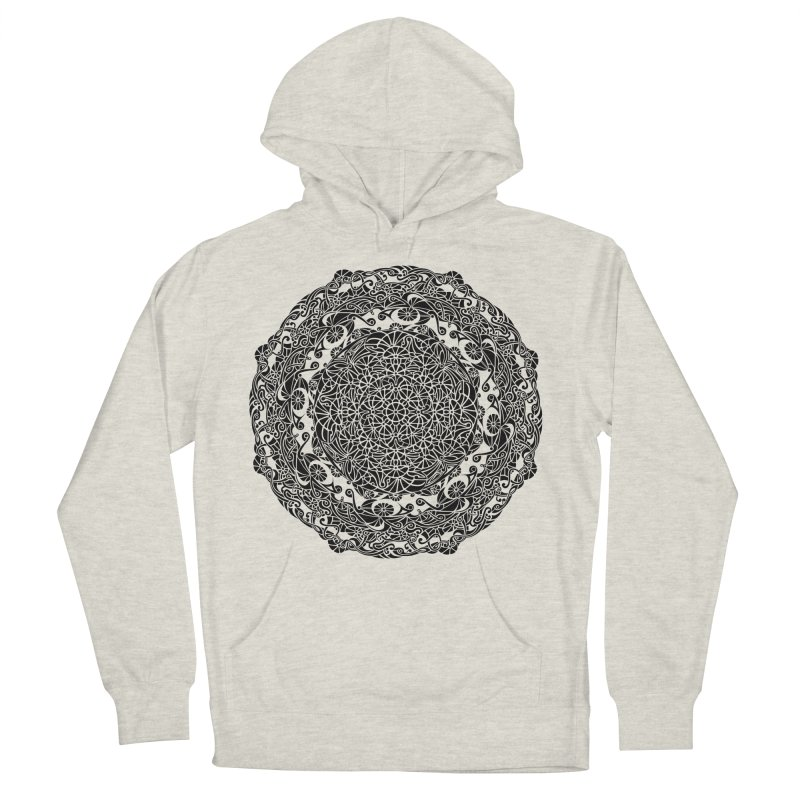 On the Vine (Black) Women's French Terry Pullover Hoody by tomcornish's Artist Shop