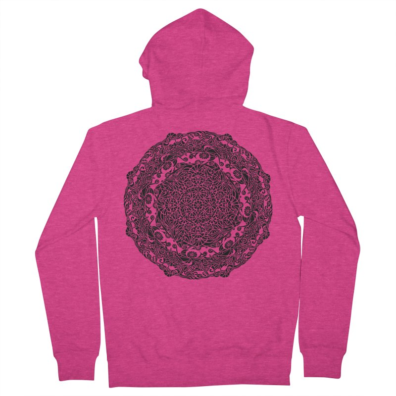 On the Vine (Black) Women's French Terry Zip-Up Hoody by tomcornish's Artist Shop