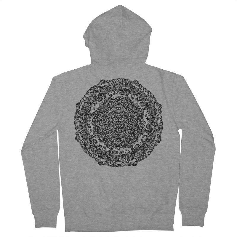 On the Vine (Black) Men's French Terry Zip-Up Hoody by tomcornish's Artist Shop