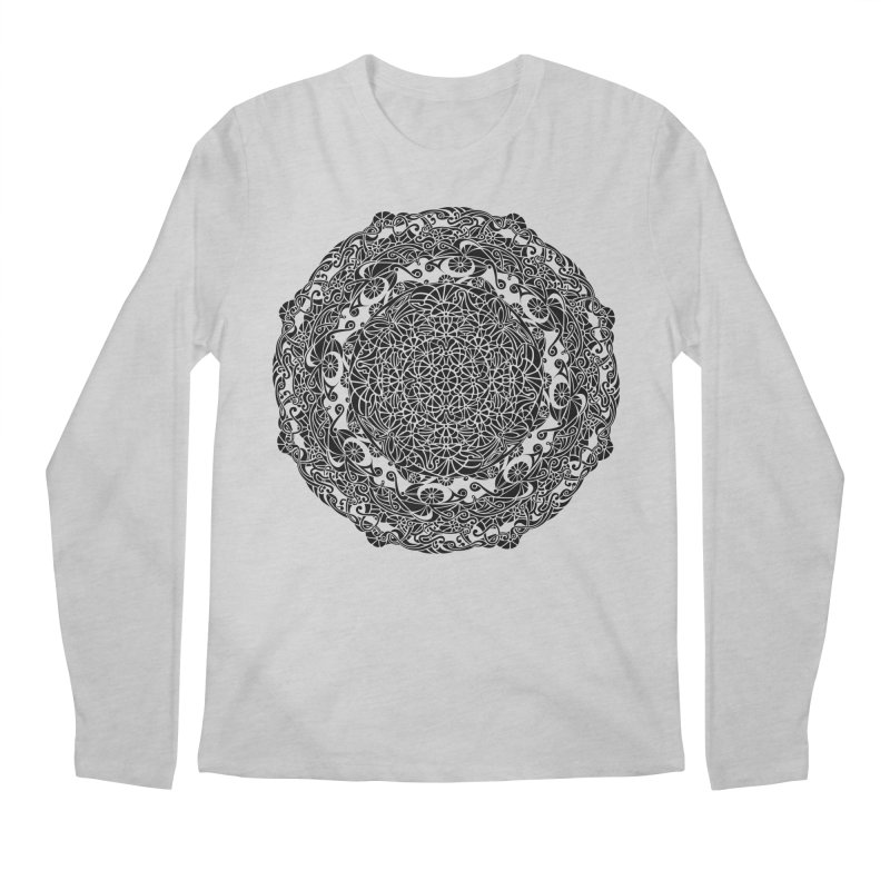 On the Vine (Black) Men's Regular Longsleeve T-Shirt by tomcornish's Artist Shop