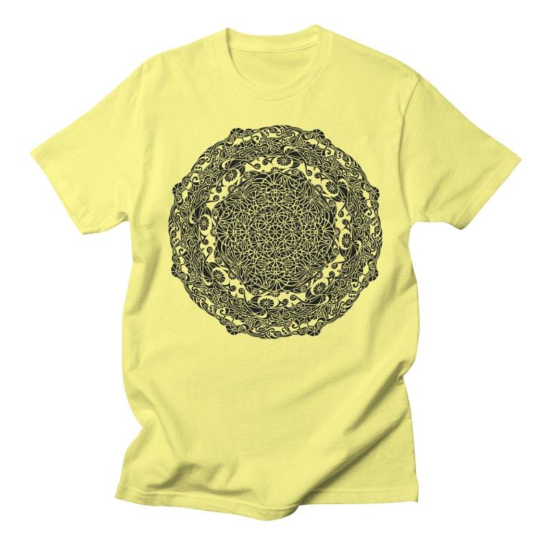 On the Vine (Black) Men's Regular T-Shirt by tomcornish's Artist Shop