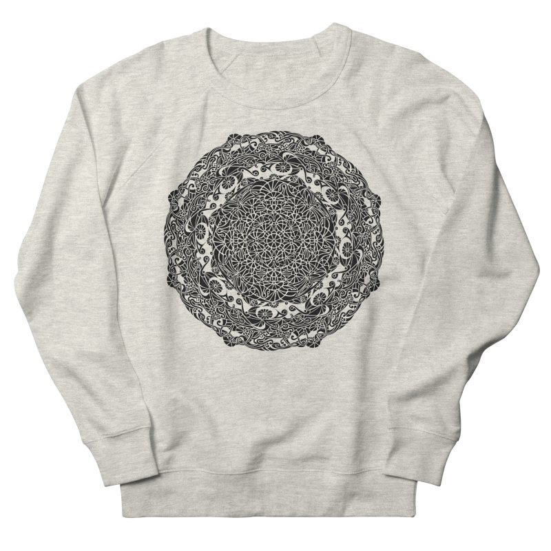 On the Vine (Black) Men's French Terry Sweatshirt by tomcornish's Artist Shop