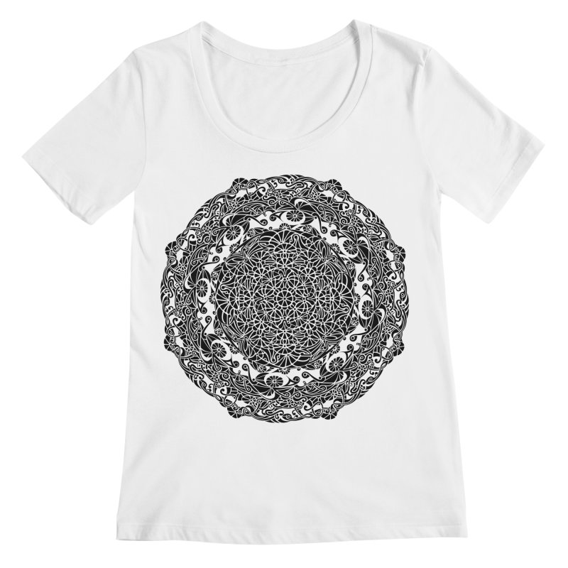 On the Vine (Black) Women's Scoopneck by tomcornish's Artist Shop