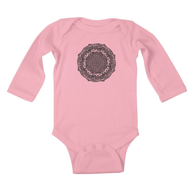 On the Vine (Black) Kids Baby Longsleeve Bodysuit by tomcornish's Artist Shop