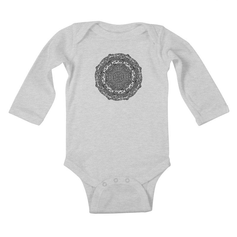 On the Vine (Black) Kids Baby Longsleeve Bodysuit by tomcornish's Artist Shop