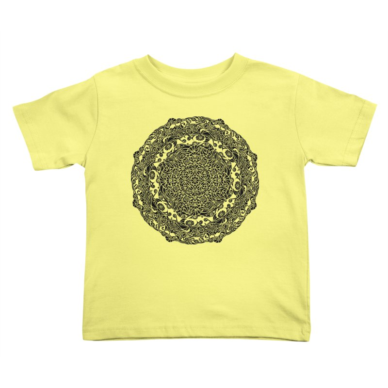 On the Vine (Black) Kids Toddler T-Shirt by tomcornish's Artist Shop