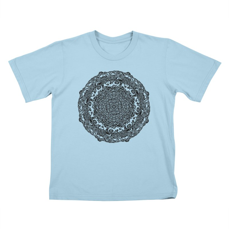 On the Vine (Black) Kids T-Shirt by tomcornish's Artist Shop