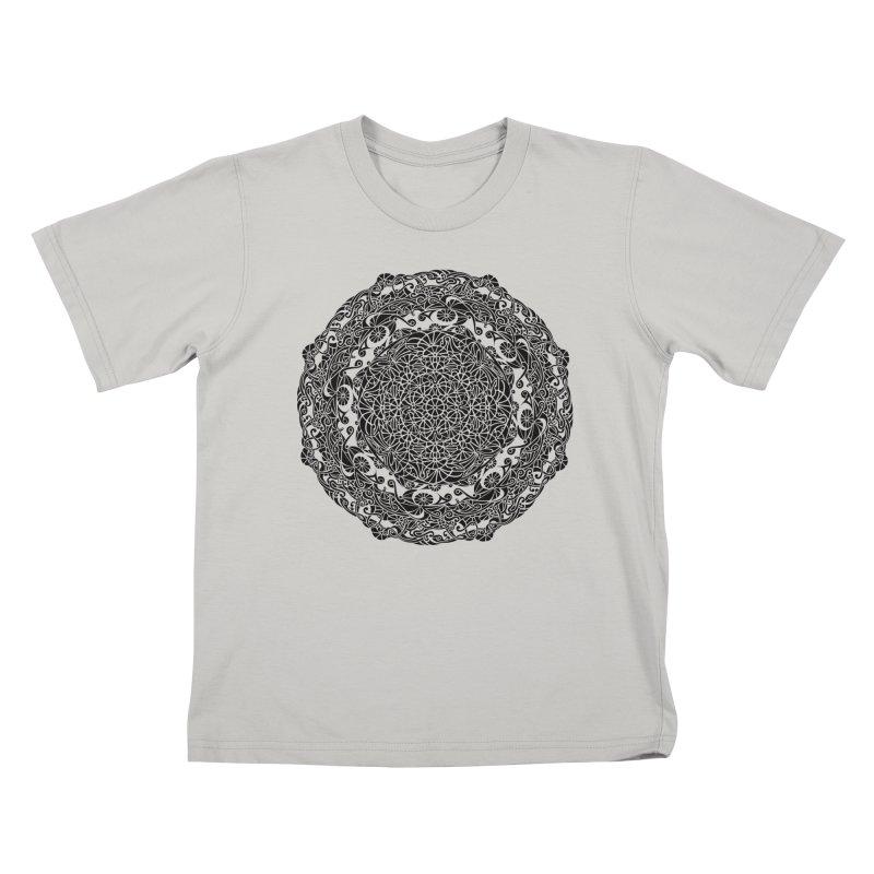 On the Vine (Black) Kids T-Shirt by tomcornish's Artist Shop