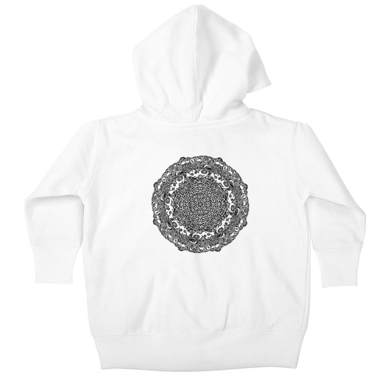 On the Vine (Black) Kids Baby Zip-Up Hoody by tomcornish's Artist Shop