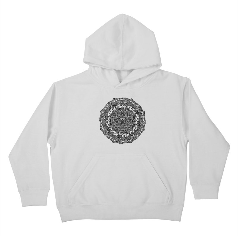 On the Vine (Black) Kids Pullover Hoody by tomcornish's Artist Shop