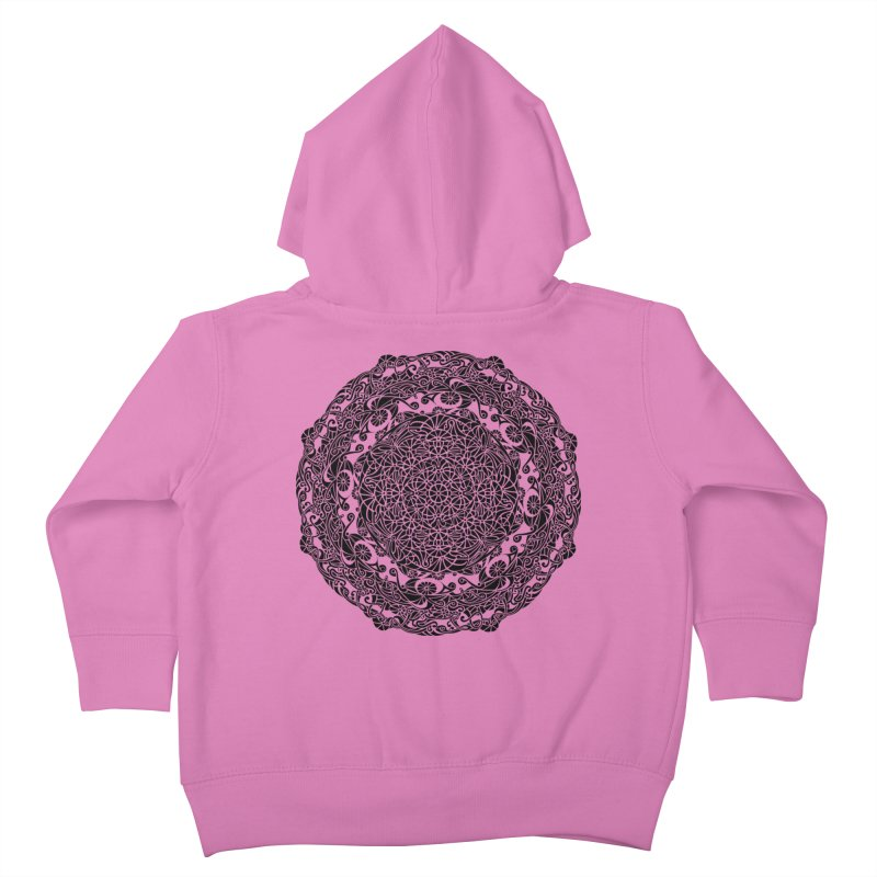 On the Vine (Black) Kids Toddler Zip-Up Hoody by tomcornish's Artist Shop