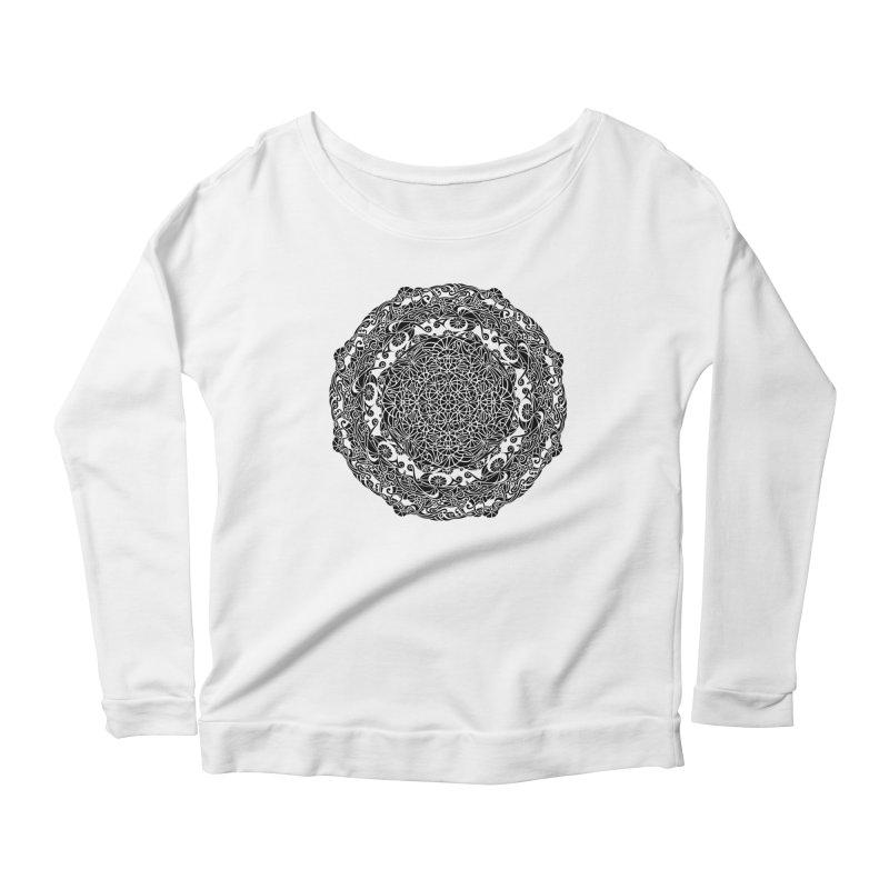 On the Vine (Black) Women's Scoop Neck Longsleeve T-Shirt by tomcornish's Artist Shop