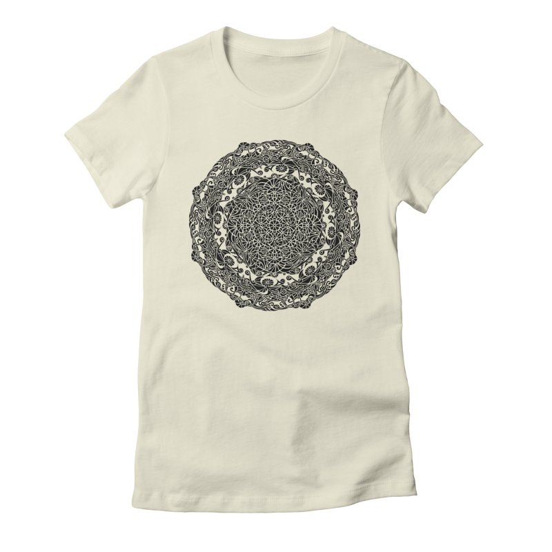 On the Vine (Black) Women's Fitted T-Shirt by tomcornish's Artist Shop