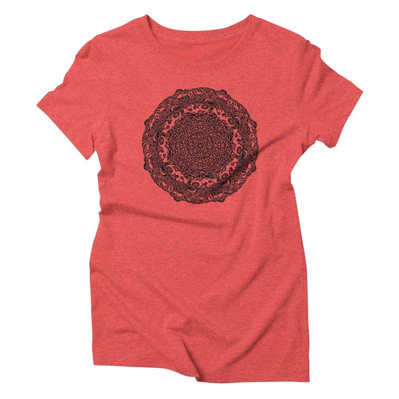 On the Vine (Black) Women's Triblend T-Shirt by tomcornish's Artist Shop