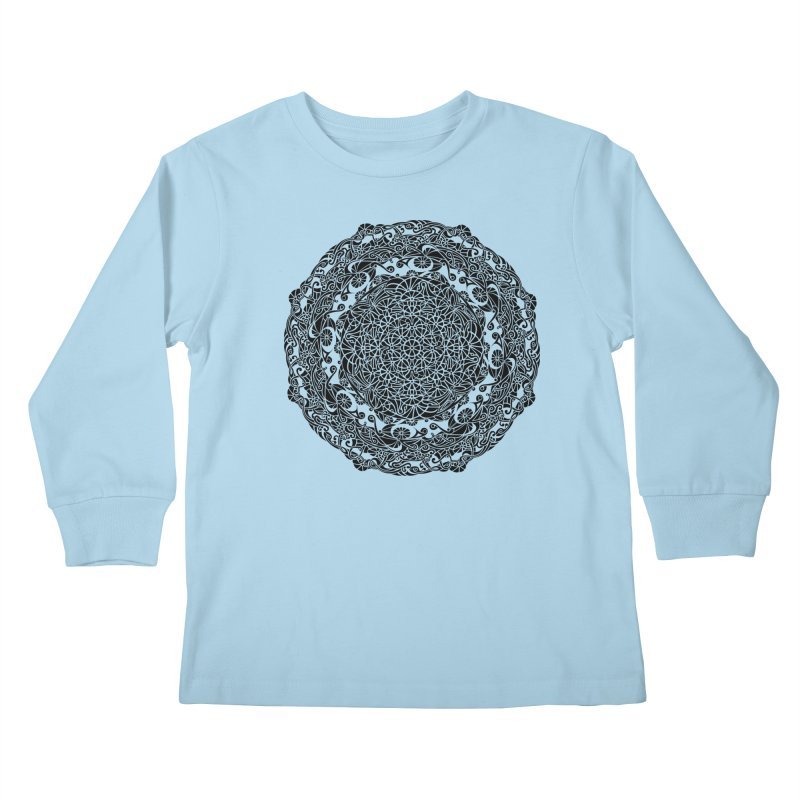 On the Vine (Black) Kids Longsleeve T-Shirt by tomcornish's Artist Shop