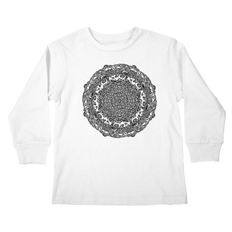 On the Vine (Black) Kids Longsleeve T-Shirt by tomcornish's Artist Shop