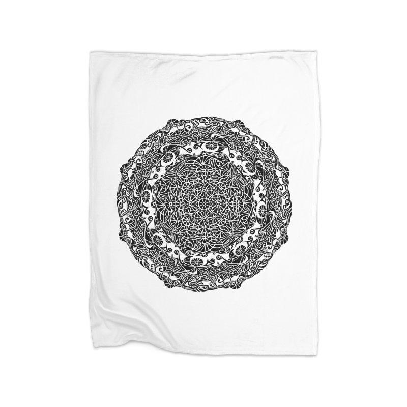 On the Vine (Black) Home Blanket by tomcornish's Artist Shop