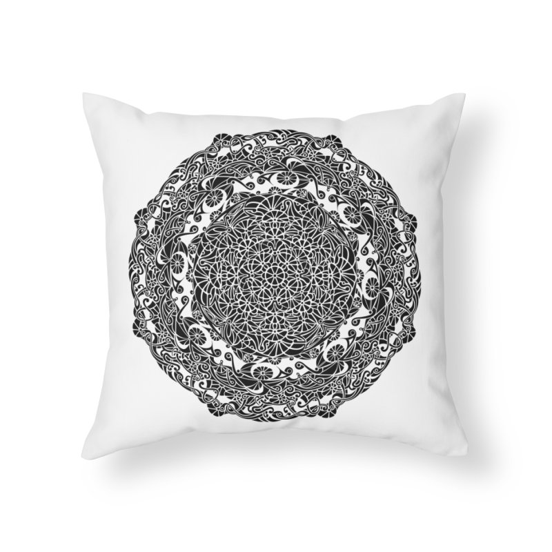 On the Vine (Black) Home Throw Pillow by tomcornish's Artist Shop