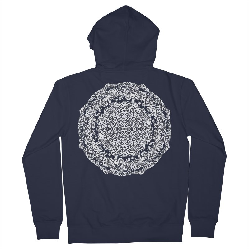 On the Vine (White) Women's French Terry Zip-Up Hoody by tomcornish's Artist Shop
