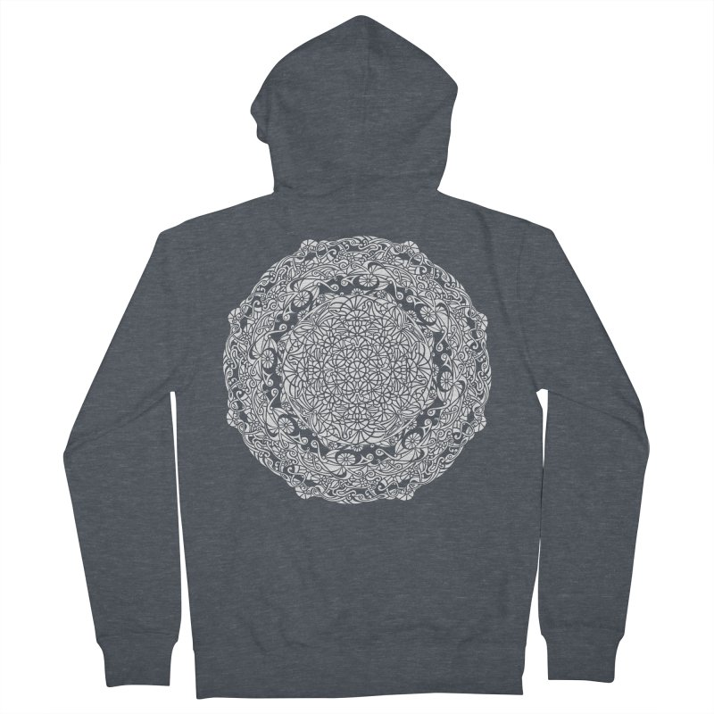 On the Vine (White) Men's French Terry Zip-Up Hoody by tomcornish's Artist Shop